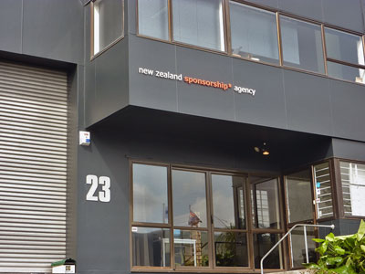 Exterior wall paintings of New Zealand Sponsorship agency